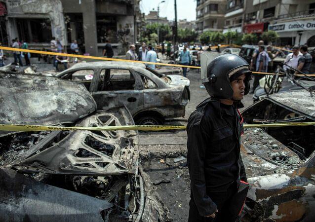 تفجيرات اغتيال النائب العام المصري