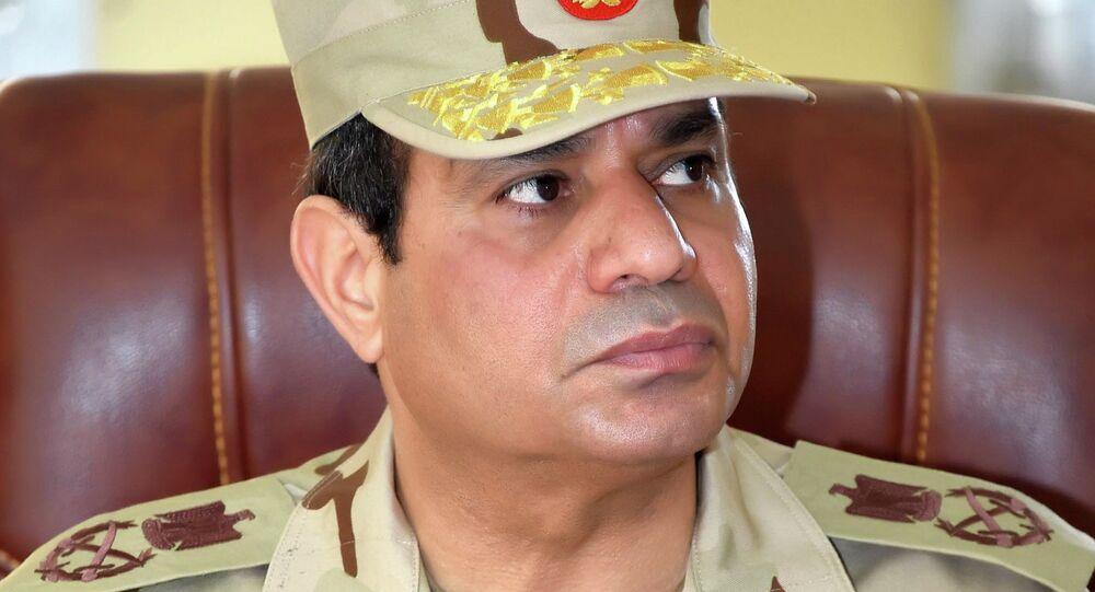 الرئيس المصري يعود الى الزي العسكري خلال زيارته إلى سيناء