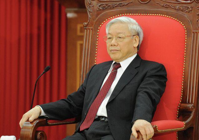 الأمين العام للحزب الشيوعي الفيتنامي نغوين فو ترونغ