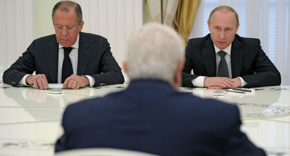 الرئيس بوتين خلال اجتماع عمل مع وزير الخارجية السوري