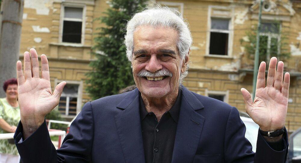 الممثل عمر الشريف فى سلوفاكيا