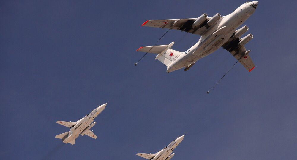 طائرة التزود بالوقود إيل-78 والمقاتلات القاذفة سو- 24