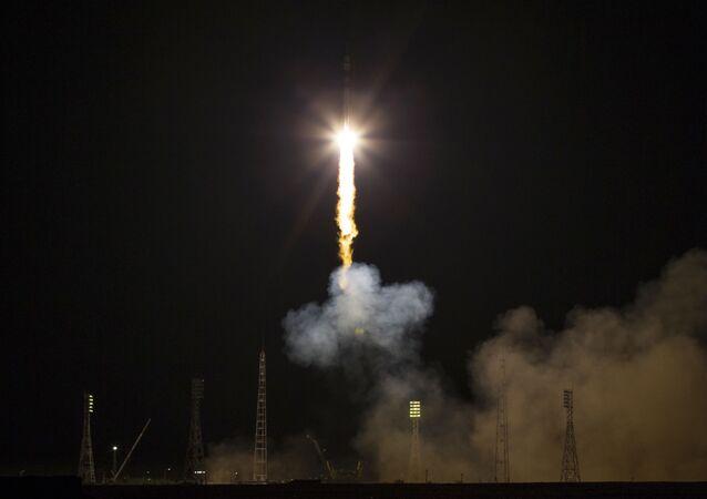 إطلاق المركبة الفضائية سويوز TMA-17M من مركز إطلاق المركبات الفضائية بايكونور