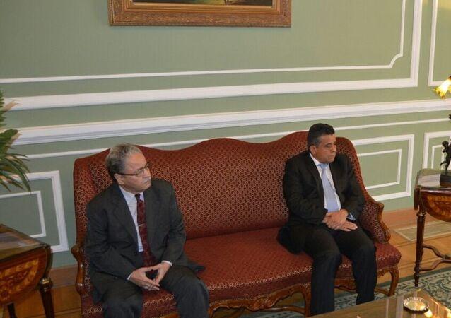 وزير الخارجية المصري ووزير خارجية ليبيا