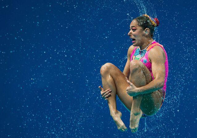 أحد السباحين التابعين لمنتخب المكسيك