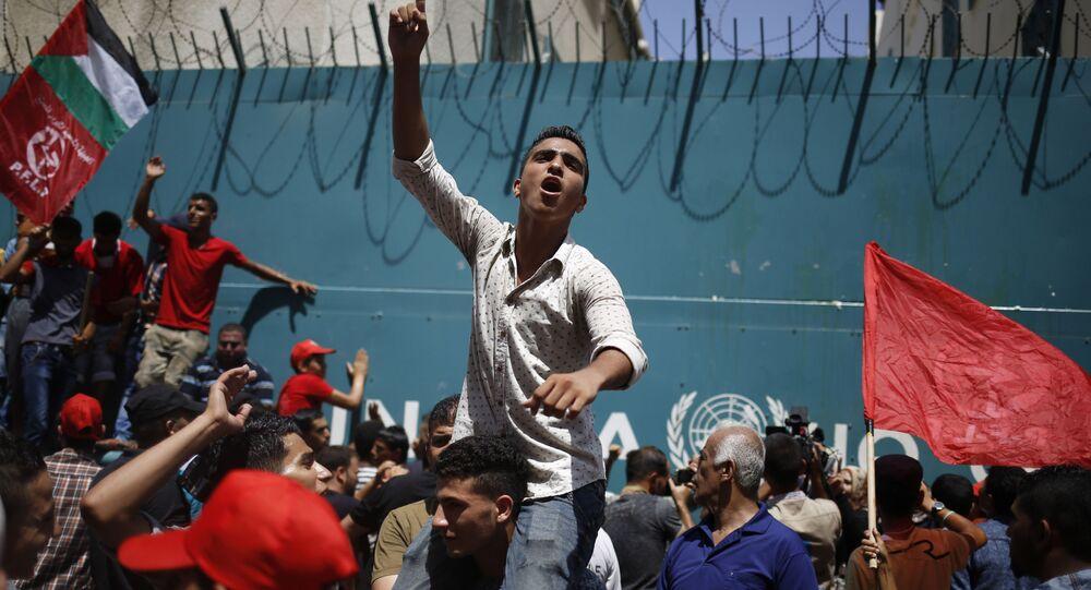 احتجاجات الجبهة الشعبية لتحرير فلسطين ضد تقليص البرامج التعليمية
