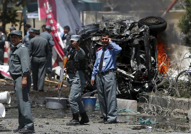 انفجار سيارة مفخخة في مطار كابول، أفغانستان