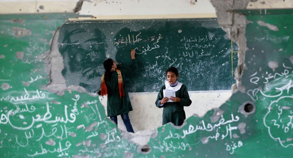 مدرسة تابعة للاونروا في غزة