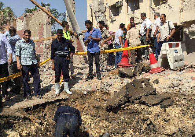 استهداف مقر الأمن الوطني في شبرا الخيمة ـ مصر
