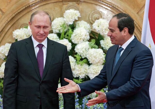 الرئيسان المصرى والروسى