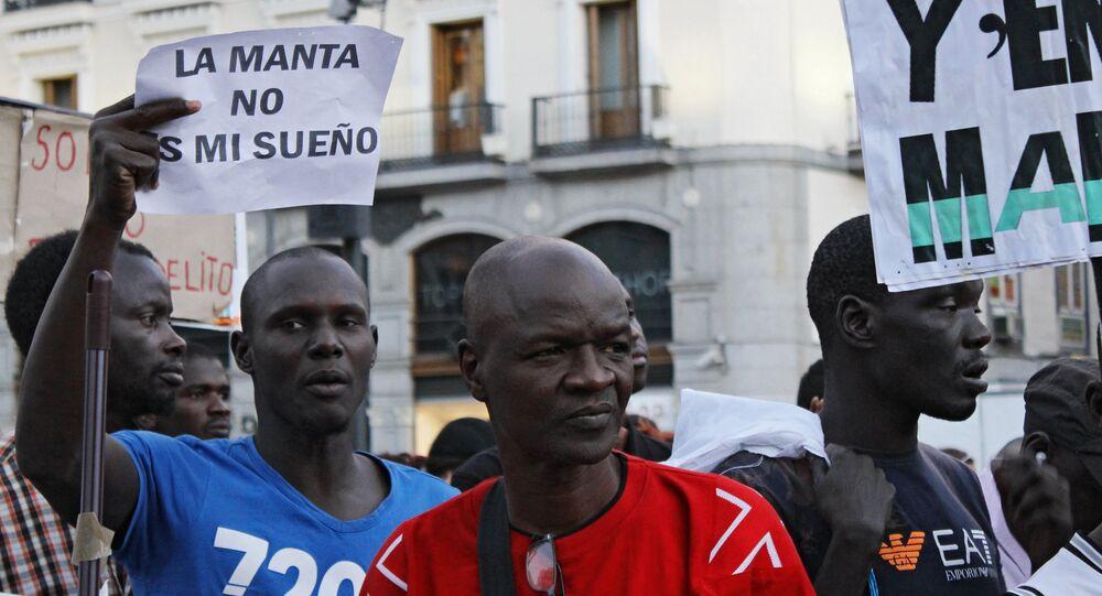 مظاهرة المهاجرين في مدريد