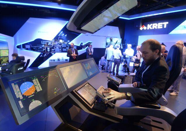 جناح مؤسسة تكنولوجيا الراديو والإلكترونيات في المعرض الجوي الفضائي ماكس-2015