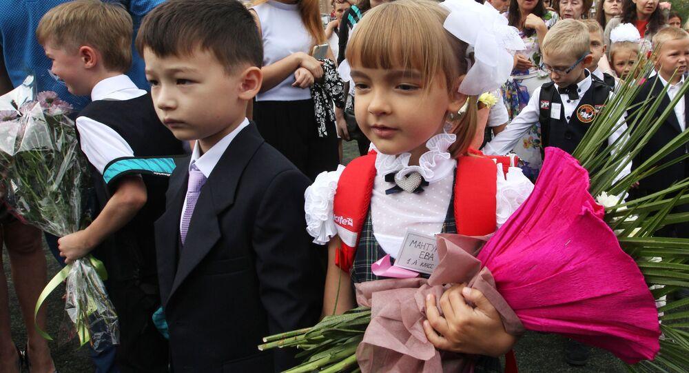 بدء العام الدراسي الجديد في روسيا