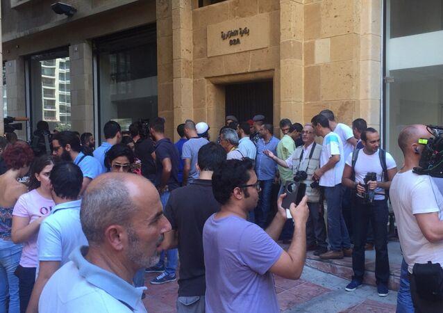 اقتحام مبنى وزارة البيئة في بيروت