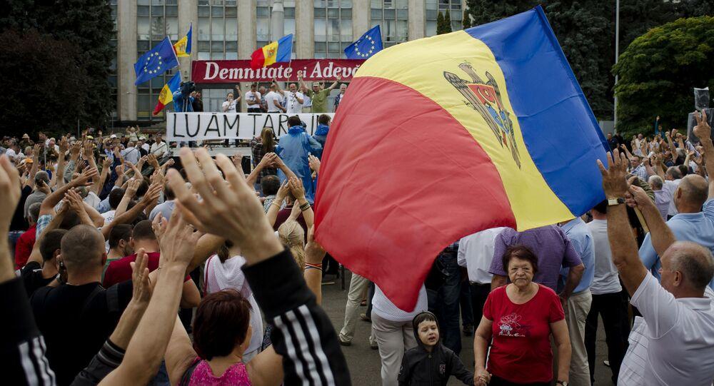احتجاجات في مولدافيا