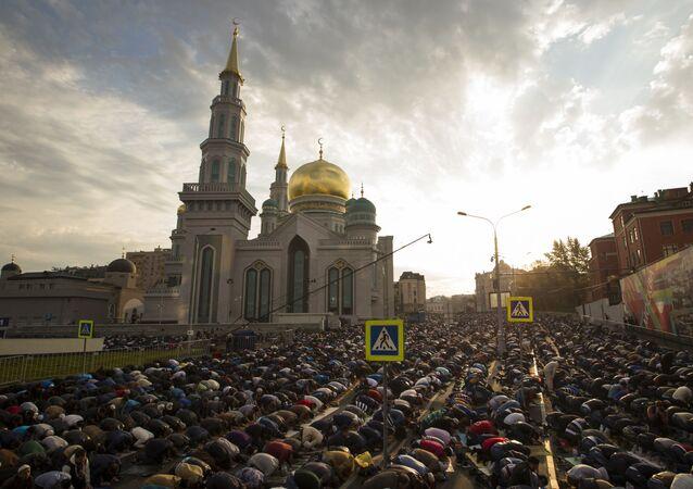 عيد الأضحى في مسجد موسكو الكبير