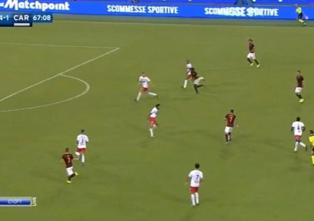 أهداف مباراة روما وكاربي