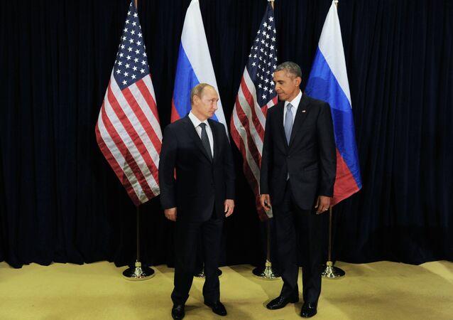الرئيسان الروسي فلاديمير بوتين والأمريكي باراك أوباما