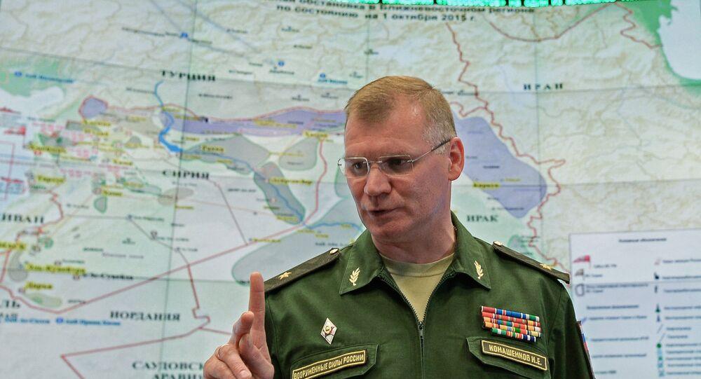 الناطق الرسمي ياسم وزارة الدفاع الروسية اللواء إيغور كوناشينكوف
