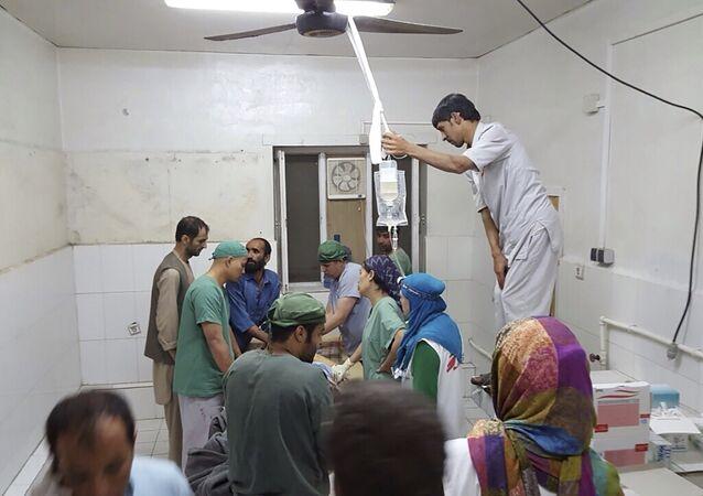 مستشفى الطوارئ في قندز بعد القصف الامريكي
