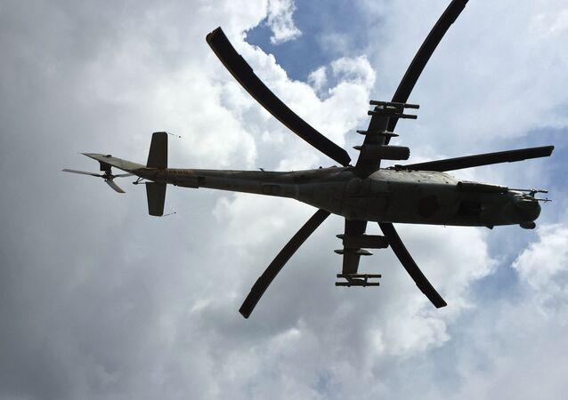 طائرة مروحية روسية في سوريا