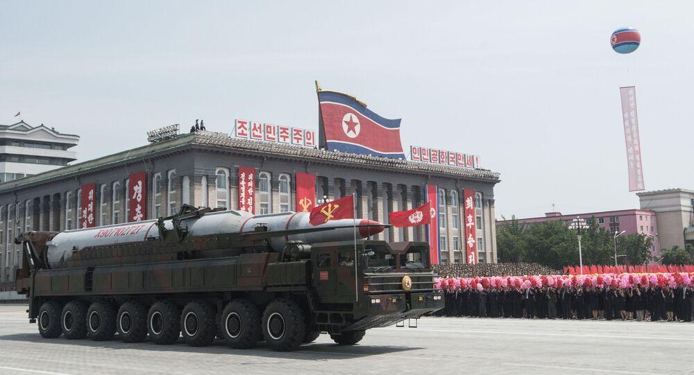 استعراض عسكري في بيونغ يانغ