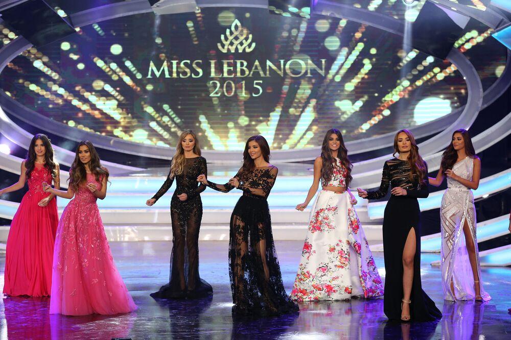 المشاركين في مسابقة الجمال ملكة جمال لبنان 2015