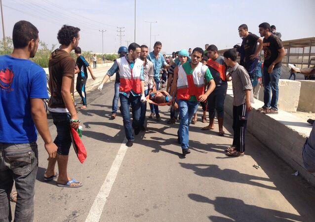 مواجهات مع الجيش الاسرائيلي قرب ايرز