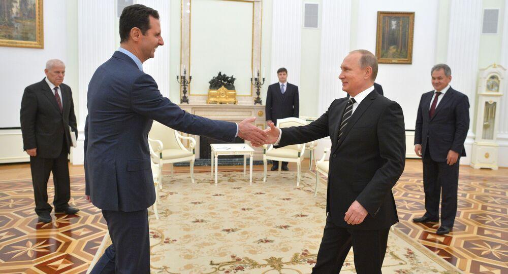 الرئيس بوتين يستقبل الرئيس بشار الأسد