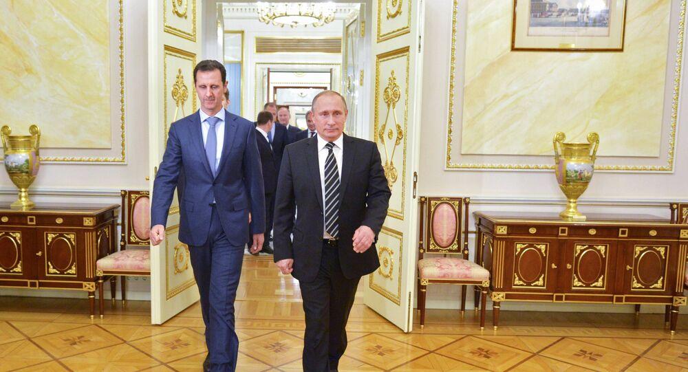 لقاء الرئيسين بوتين والأسد