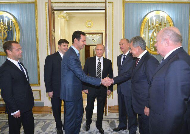 الرئيس فلاديمير بوتين وبشار الأسد