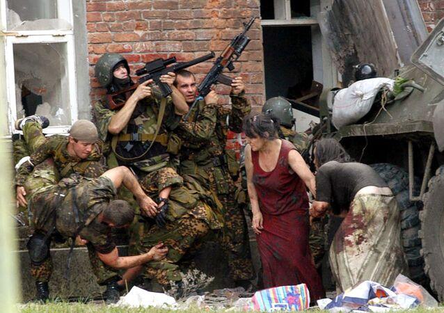 القوات الخاصة الروسية أثناء عملية بيسلان فى أوستيا الشمالية