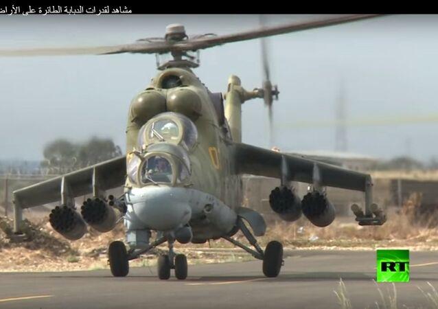 الدبابة الطائرة على الأراضي السورية