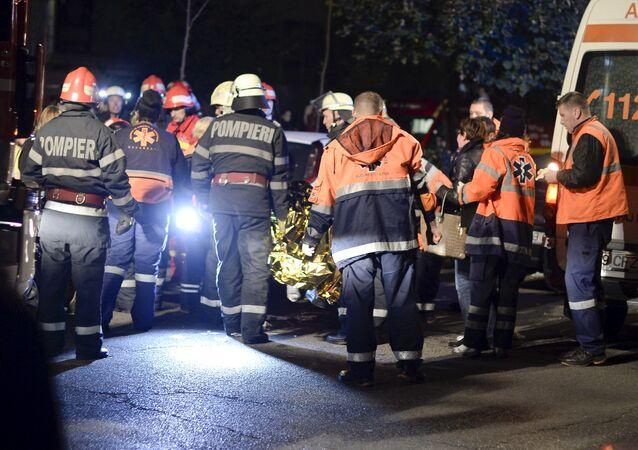 حريق بملهى ليلي في بوخارست