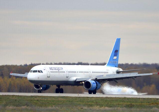الطائرة الروسية التي تحطمت في سيناء
