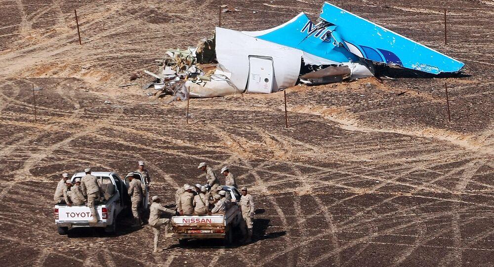 أشلاء الطائرة المتحطمة في مصر