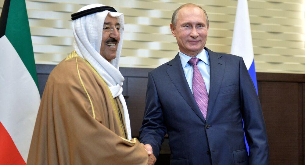 لقاء رئيس الدولة الروسية وأمير الكويت