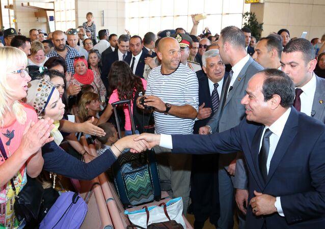 الرئيس عبد الفتاح السيسي في شرم الشيخ