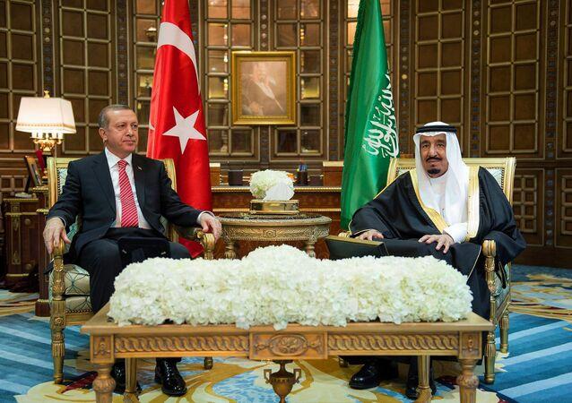 الملك سلمان والرئيس التركي أردوغان