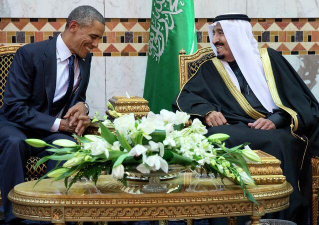 باراك أوباما وسلمان بن عبد العزيز