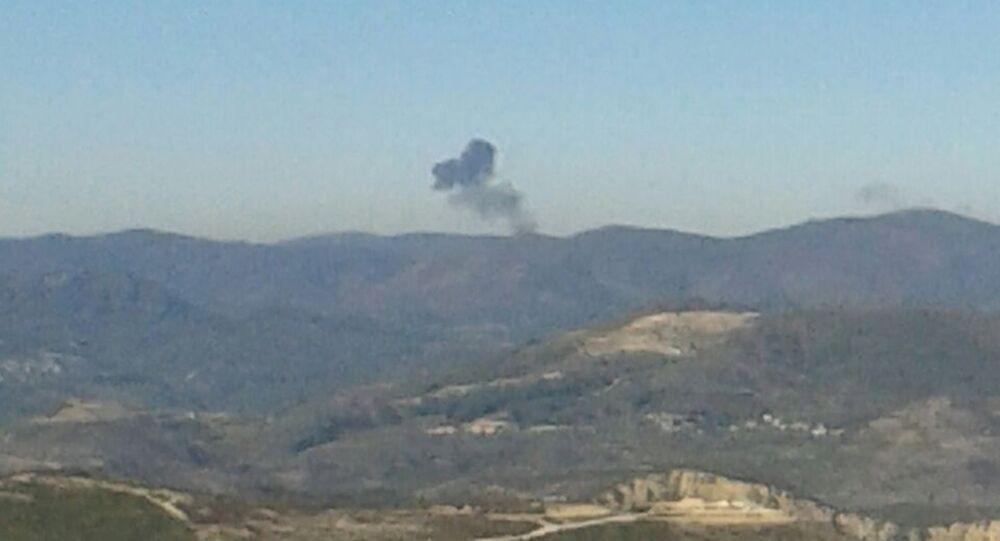 حادث طائرة عسكرية في سوريا