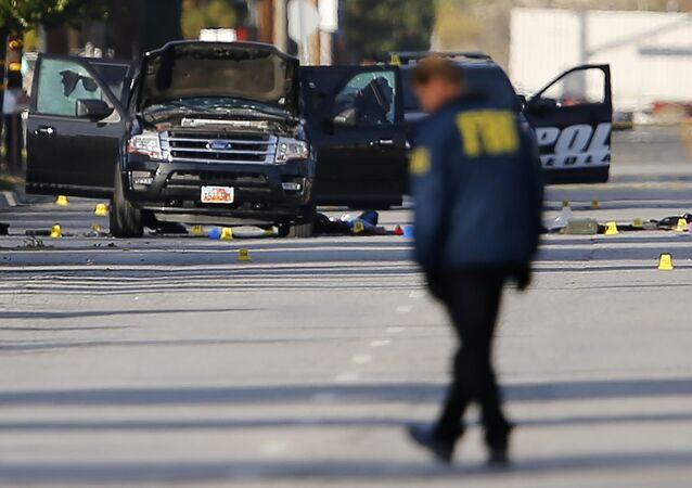 الشرطة الأمريكية في موقع حادث كاليفورنيا