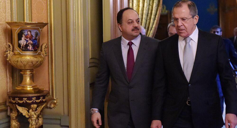لقاء وزيري خارجية روسيا وقطر