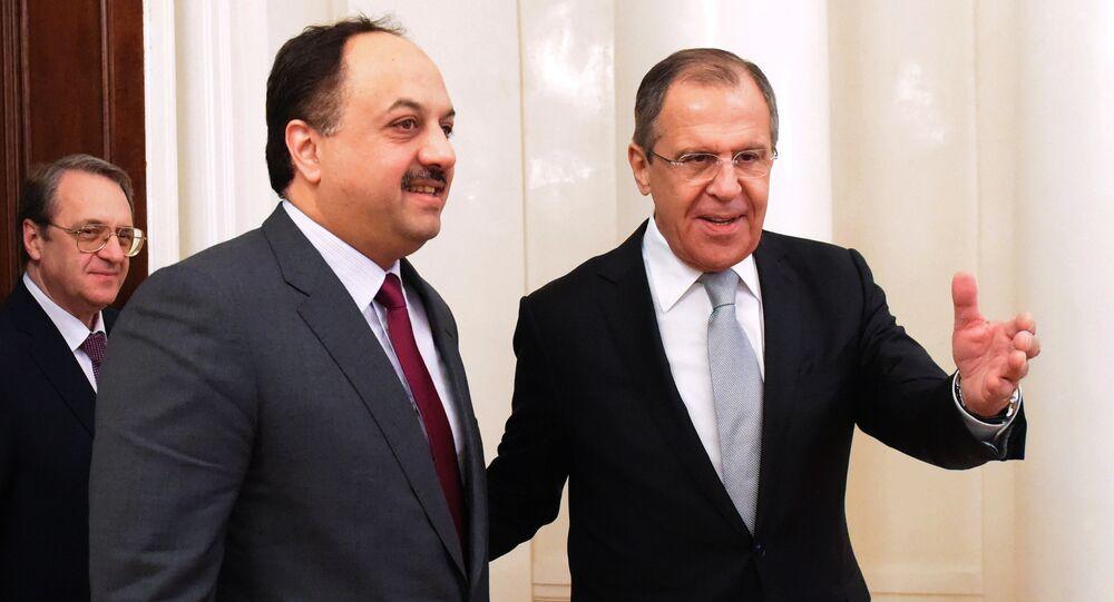 لافروف مع وزير الخارجية القطري