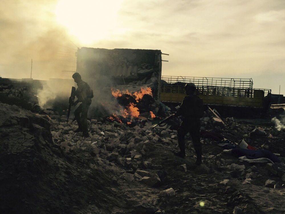 قوات الجيش العراقي في الرمادي المحررة
