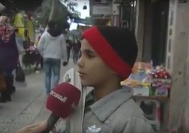 أمنية صادمة لطفل فلسطيني