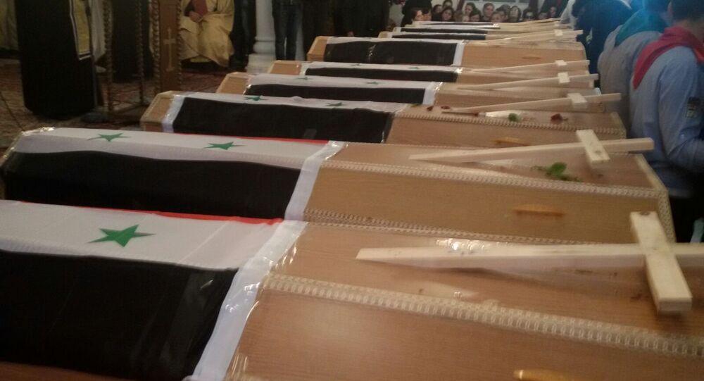 ضحايا العملية الارهابية بالقامشلي