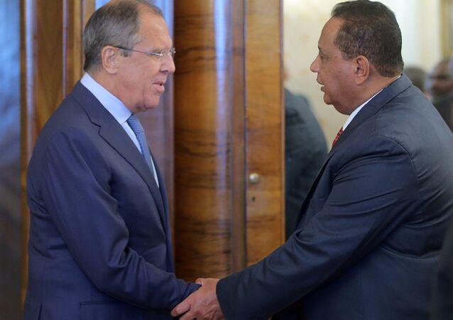 اللقاء بين وزيري خارجية روسيا سيرغي لافروف ووزير خارجية جمهورية السودان إبراهيم غندور