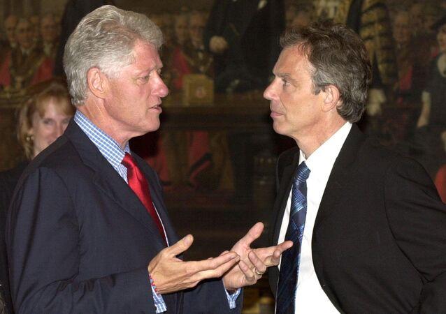 بيل كلينتون وتوني بلير
