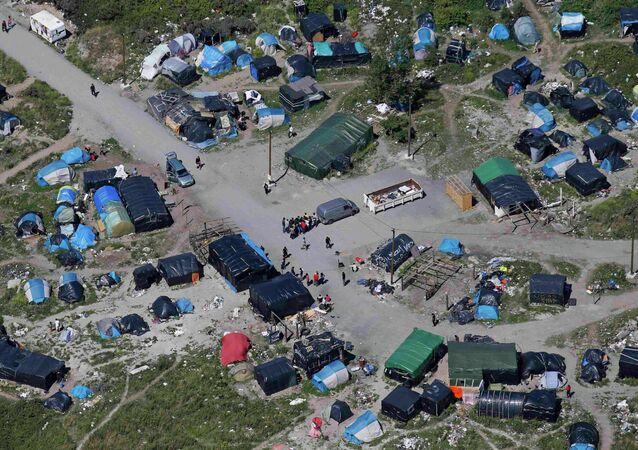 مخيم للاجئين في مدينة كاليه الفرنسية